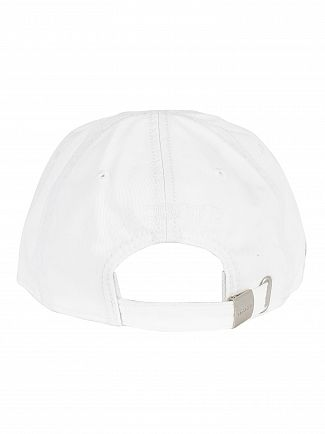 Lacoste White Small Logo Baseball Cap