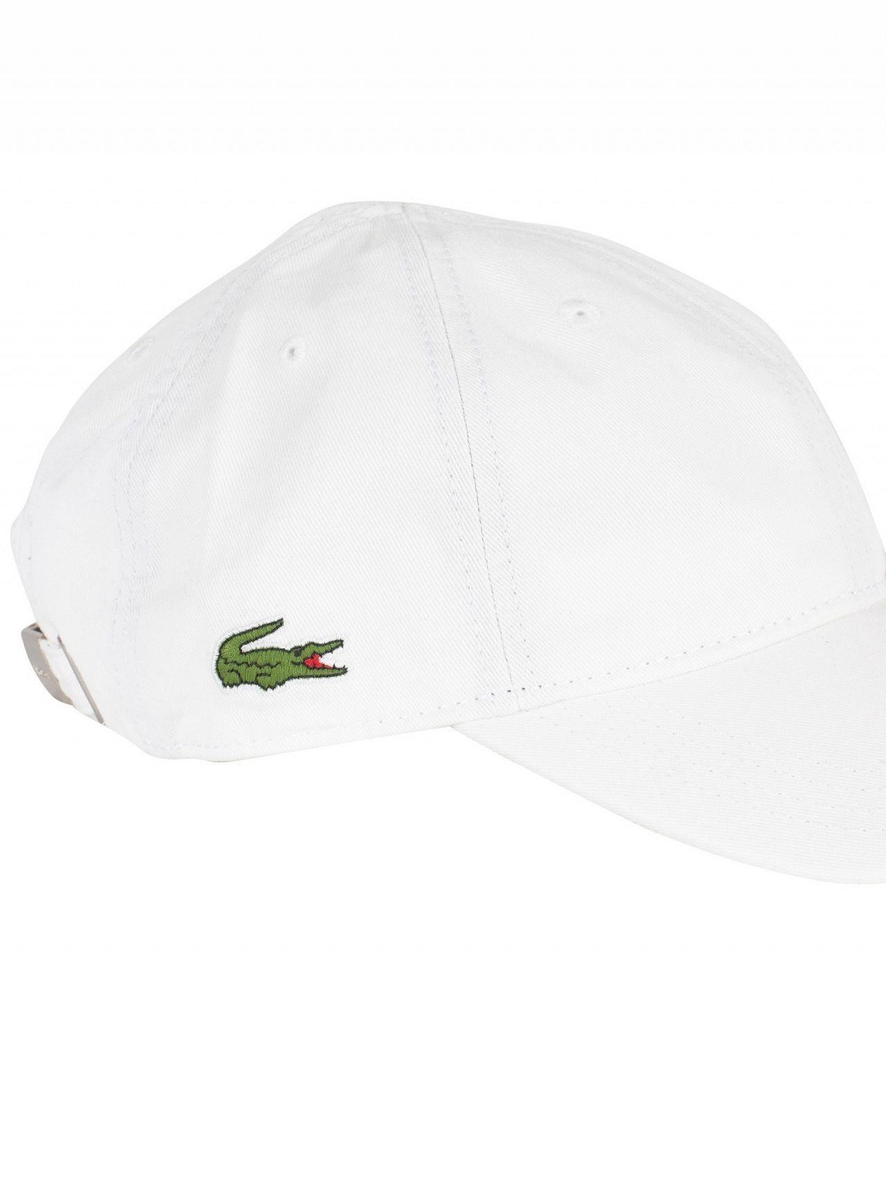Lacoste White Small Logo Baseball Cap 6bca7ba58a4