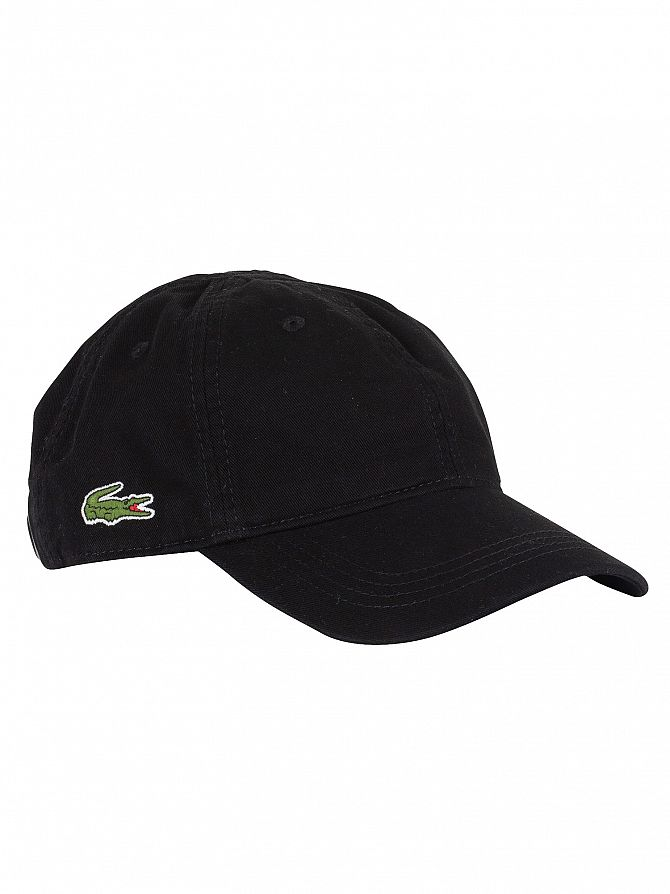 Lacoste Black Small Logo Baseball Cap