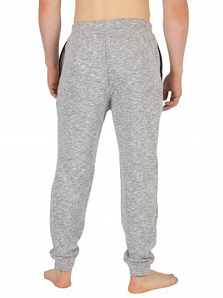 Lacoste Grey Melange Stripe Pyjama Bottoms