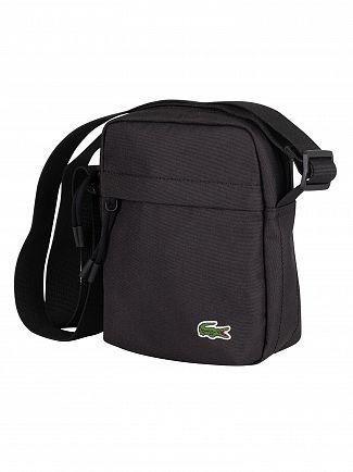 Lacoste Black Vertical Camera Bag