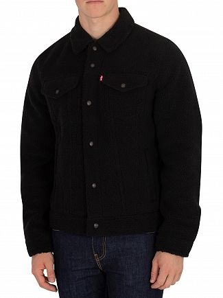 Levi's Black Sherpa Face Trucker Jacket