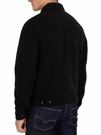 Levi's Black Sherpa Face Trucker Jacket