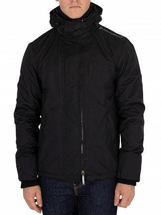 Superdry Black/Black Arctic Pop Zip Windcheater Jacket