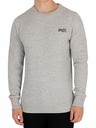 Superdry Anchor Grey Grit Orange Label Sweatshirt