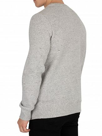Superdry Anchor Grey Grit Orange Label Sweatshirt