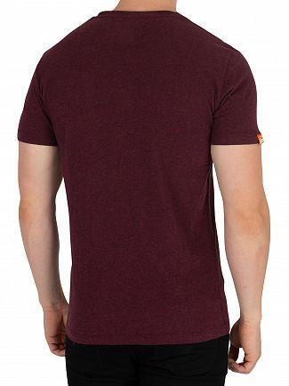 Superdry Boston Burgundy Grit Orange Label Vintage EMB T-Shirt