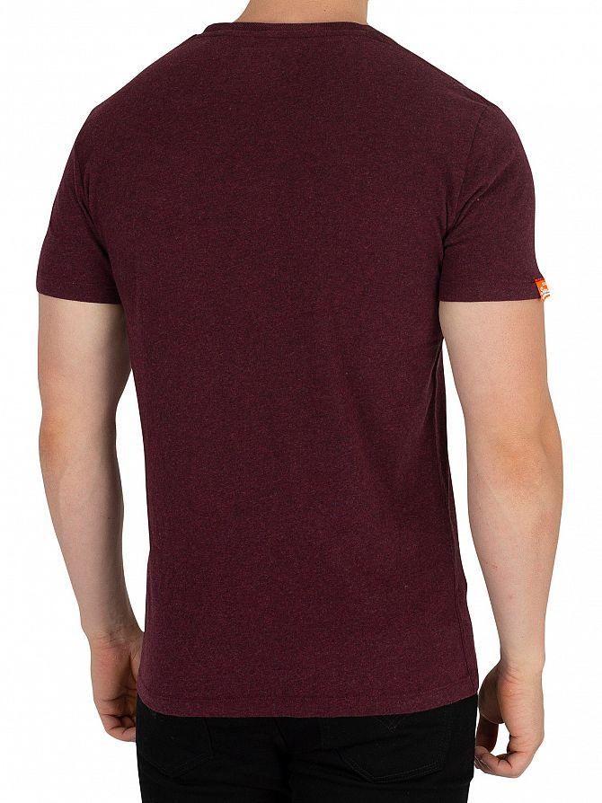 Emb Superdry Red Men's Orange Shirt Vintage T Label I7w7qfz