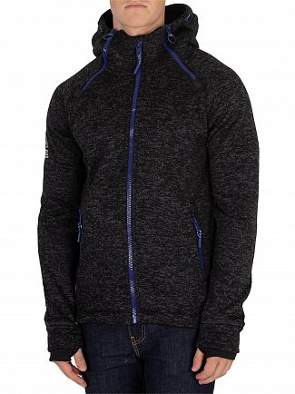 Superdry Black Granite Marl Storm Double Zip Jacket