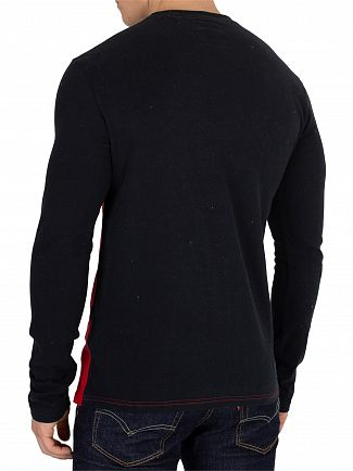 Superdry Podium Navy/Ice/Pitch Red Vintage Panel Longsleeved T-Shirt