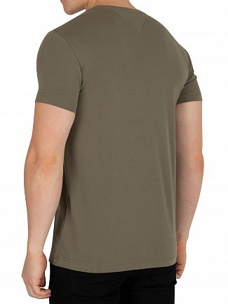 Tommy Hilfiger Dusty Olive Stretch Slim Fit T-Shirt