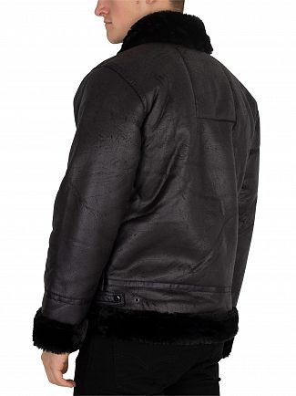Alpha Industries Black/Black B3 Flight Jacket