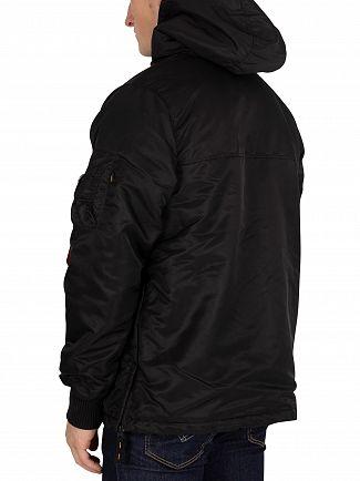 Alpha Industries Black HPO Anorak Jacket