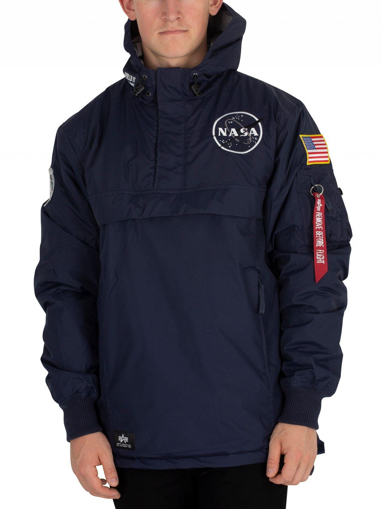 b4eb514dd74 Alpha Industries Rep Blue NASA Anorak Jacket