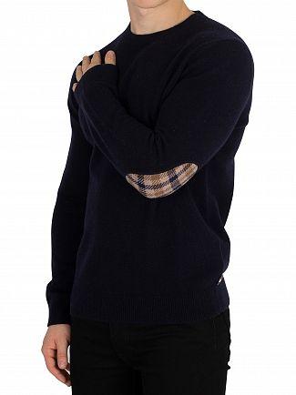 Aquascutum Navy Lance Lambswool Knit