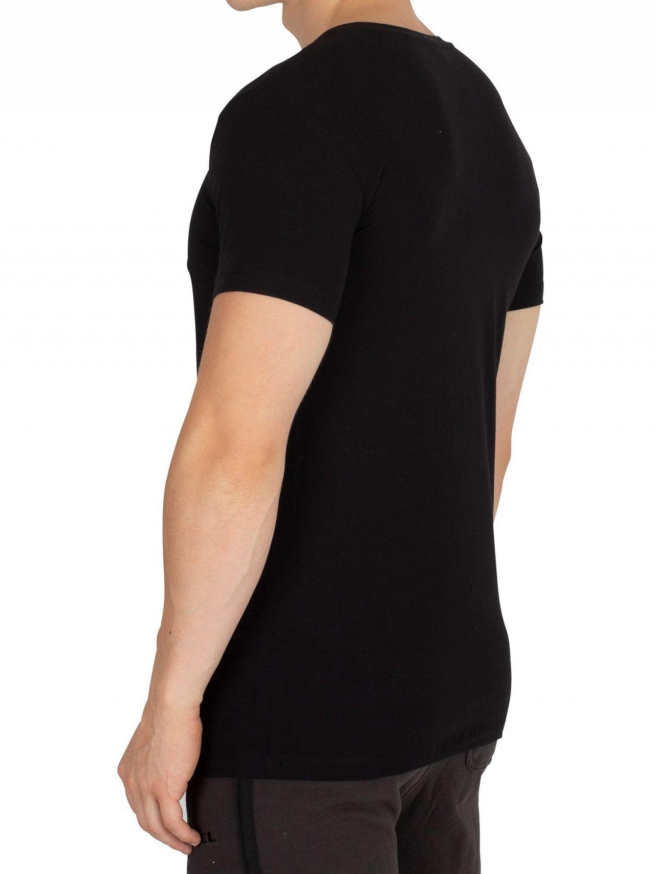 72cc7def Diesel Black/Navy/White 3 Pack Crew T-Shirt   Standout