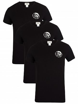 Diesel Black 3 Pack Crew T-Shirt