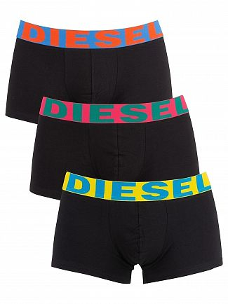 Diesel Black 3 Pack Shawn Instant Looks Trunks