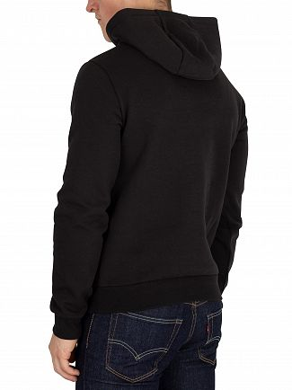 EA7 Black Graphic Pullover Hoodie