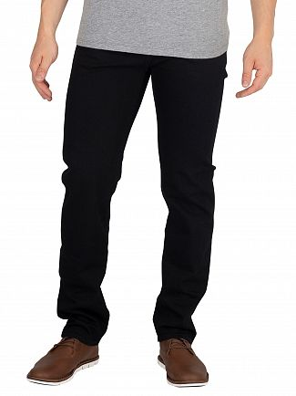 Edwin Power Black Denim ED-80 Slim Tapered Jeans