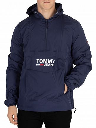 Tommy Jeans Black Iris Pop Over Anorak Jacket
