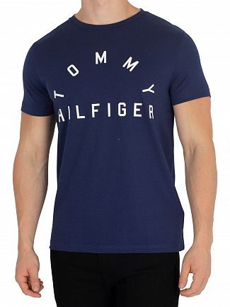 Tommy Hilfiger Medieval Blue Arch Logo T-Shirt