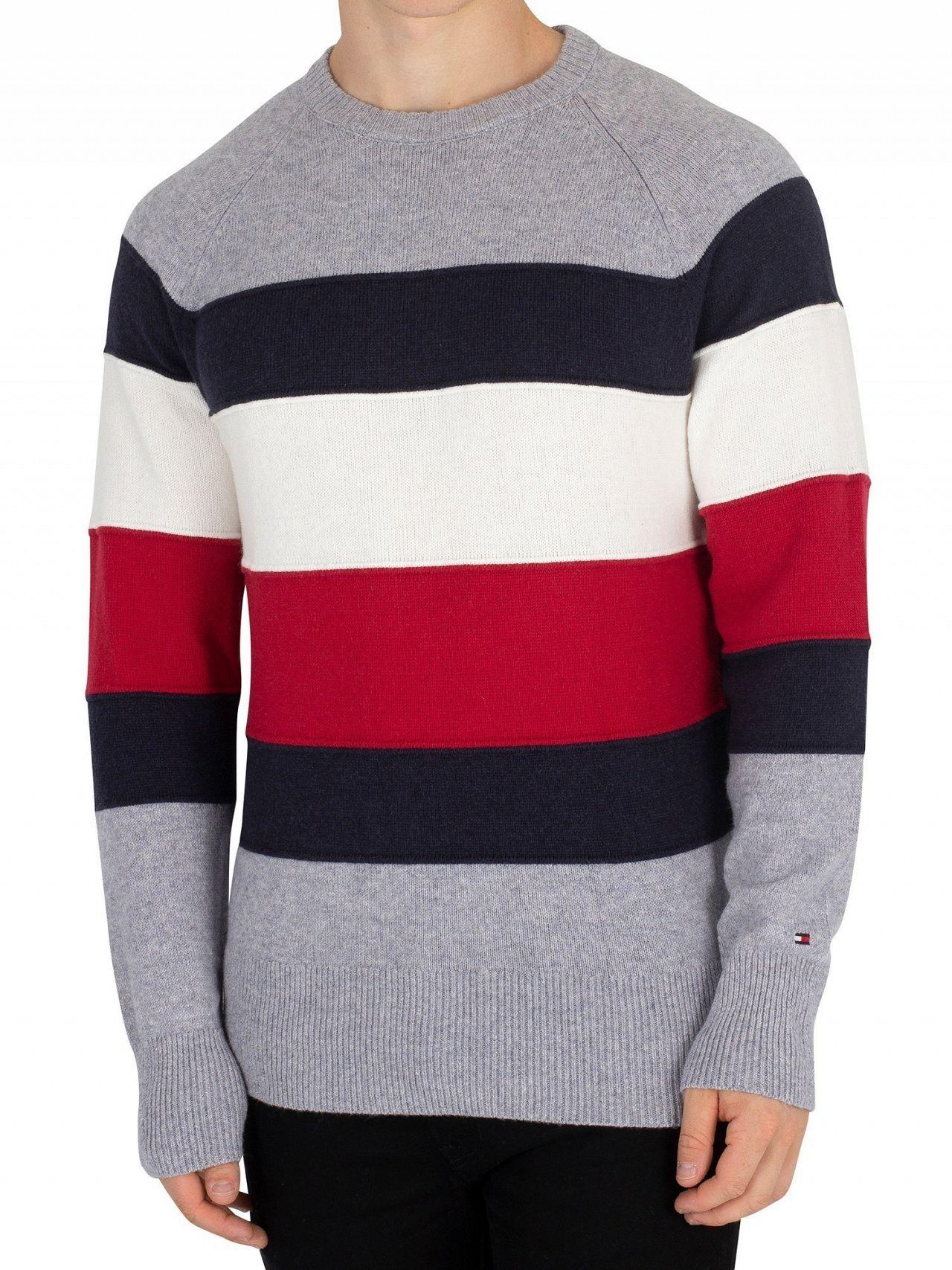 4a8a5993e68d Tommy Hilfiger Quicksilver Heather Colorblock Stripe Knit