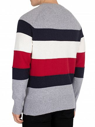 Tommy Hilfiger Quicksilver Heather Colorblock Stripe Knit