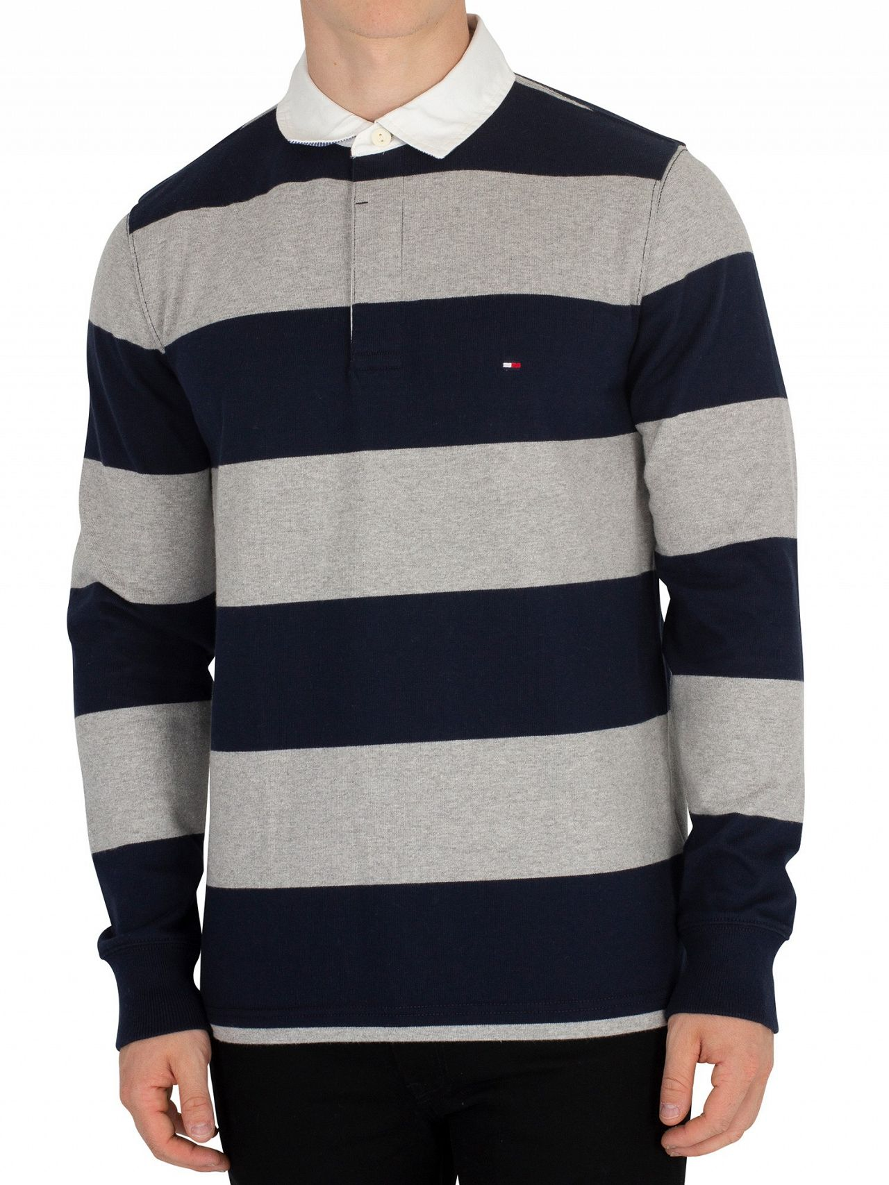 cc1676ef Tommy Hilfiger Sky Captain Iconic Block Stripe Rugby Longsleeved Poloshirt