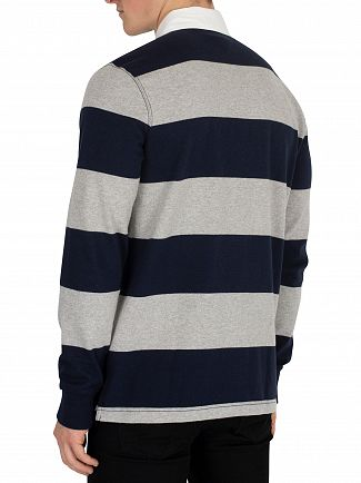 Tommy Hilfiger Sky Captain Iconic Block Stripe Rugby Longsleeved Poloshirt