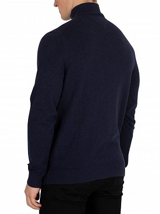 Tommy Hilfiger Sky Captain Heather Pima Cashmere Button Knit