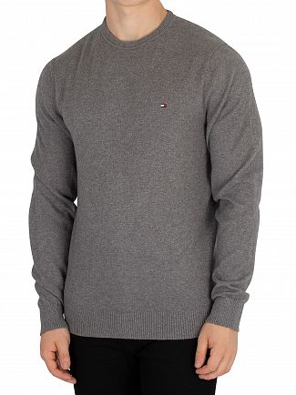 Tommy Hilfiger Silver Fog Heather Pima Cashmere Knit