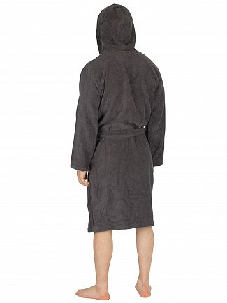 Emporio Armani Anthracite Woven Bathrobe