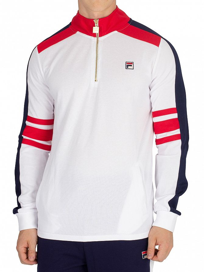 Fila Vintage White/Red/Peacoat Alastair Vintage Track Top