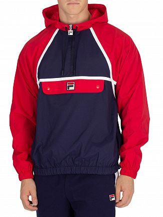 Fila Vintage Peacoat/Red/White Astor Batwing Jacket