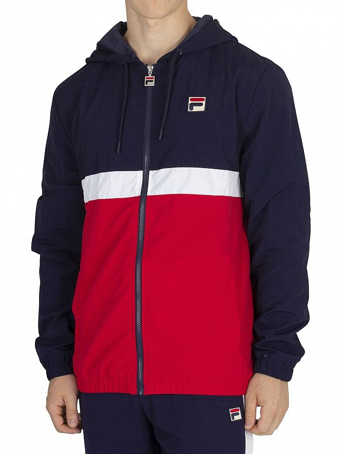 Fila Vintage Peacoat/Red/White Tate Zip Jacket