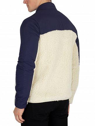 Fila Vintage Oyster White/Peacoat Tonetto Sherpa Fleece Jacket