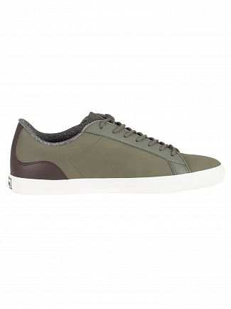 Lacoste Khaki/Brown Lerond 318 2 CAM Leather Trainers