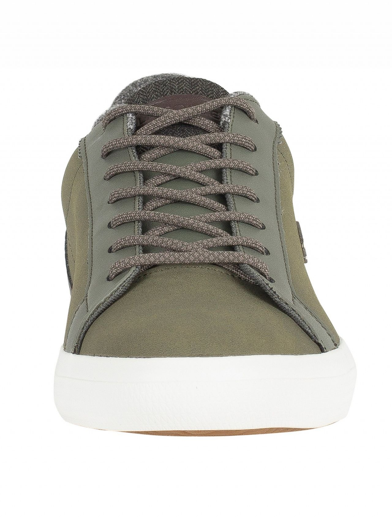 338fe65ab655a Lacoste Khaki Brown Lerond 318 2 CAM Leather Trainers