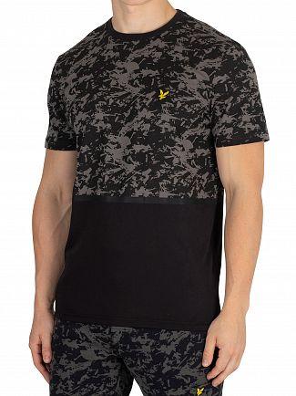 Lyle & Scott True Black Block Print T-Shirt