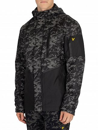 Lyle & Scott True Black Print Casuals Jacket