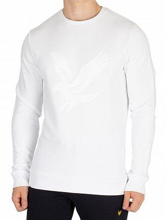 Lyle & Scott White Graphic Sweatshirt