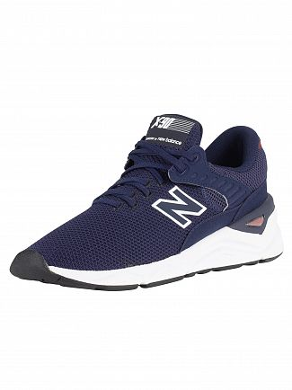 New Balance Navy X-90 Trainers