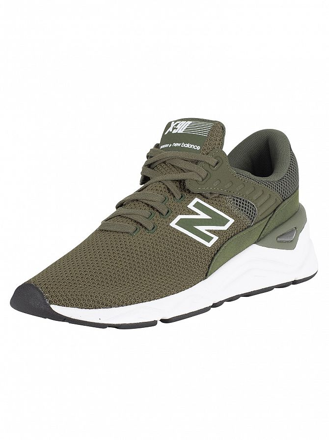 New Balance Dark Green X-90 Trainers