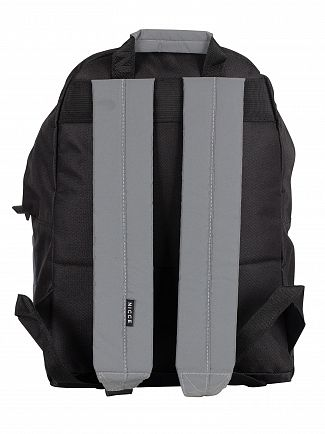 Nicce London Black Nate Reflective Backpack