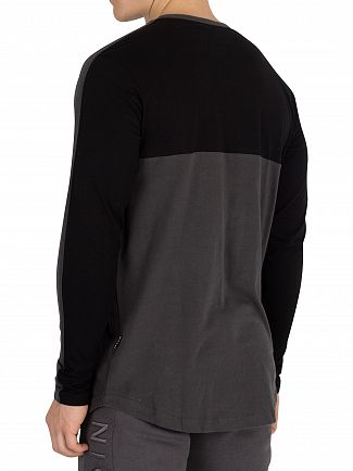 Nicce London Black/Coal Shale Longsleeved T-Shirt