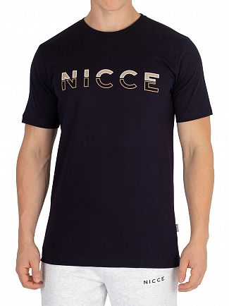 Nicce London Deep Navy Split Logo T-Shirt