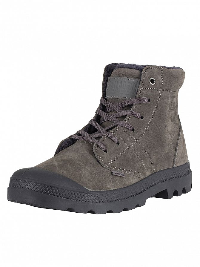 Palladium Gull Gray/Athracite Pallabrousse LT Leather Boots