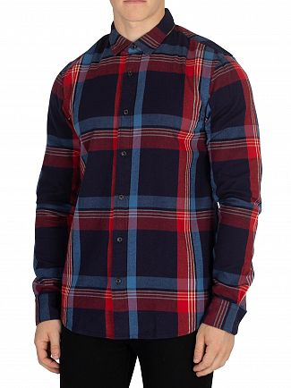 Scotch & Soda Red/Blue Flannel Shirt