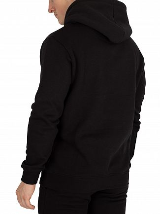 Sik Silk Black Muscle Fit Pullover Hoodie